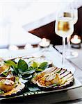 pan-fried scallops and vegetable julienne Stock Photo - Premium Rights-Managed, Artist: Photocuisine, Code: 825-05990925