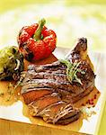 rib of beef with thyme and rosemary