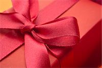present wrapped close up - Festively wrapped gift, close-up Stock Photo - Premium Royalty-Freenull, Code: 632-05991479