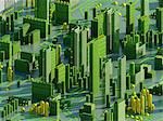 Computer artwork of a conceptual circuit cityscape made of electronic components. Stock Photo - Premium Royalty-Free, Artist: Andrew Douglas, Code: 679-05992476