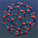 Buckyball molecule, computer artwork. Stock Photo - Premium Royalty-Free, Artist: Ikon Images, Code: 679-05992593