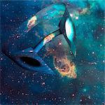 Wormhole. Conceptual computer artwork of a wormhole through space. Stock Photo - Premium Royalty-Free, Artist: Ascent Xmedia, Code: 679-05992616