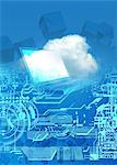 Cloud computing, conceptual computer artwork. Stock Photo - Premium Royalty-Free, Artist: Ikon Images, Code: 679-05992743