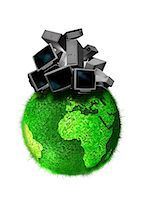 Recycling obsolete technology, conceptual computer artwork. Stock Photo - Premium Royalty-Freenull, Code: 679-05992761
