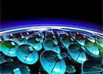 Satellite array, computer artwork. Stock Photo - Premium Royalty-Freenull, Code: 679-05992799