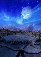 Alien planet, computer artwork. Stock Photo - Premium Royalty-Freenull, Code: 679-05996233