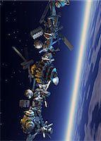 spaceship - Space junk, computer artwork. Stock Photo - Premium Royalty-Freenull, Code: 679-05996305