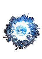 spaceship - Space junk, conceptual computer artwork. Stock Photo - Premium Royalty-Freenull, Code: 679-05996307