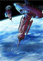 Alien spaceship, computer artwork. Stock Photo - Premium Royalty-Freenull, Code: 679-05996370