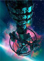 spaceship - Alien spaceship, computer artwork. Stock Photo - Premium Royalty-Freenull, Code: 679-05996390