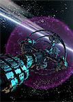 Alien spaceship, computer artwork. Stock Photo - Premium Royalty-Free, Artist: Ikon Images, Code: 679-05996391