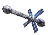 spaceship - Futuristic spaceship powered by a photo drive, computer artwork. Stock Photo - Premium Royalty-Freenull, Code: 679-05996408