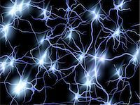 synapse - Nerve cells. Computer artwork of nerve cells or neurons firing. Stock Photo - Premium Royalty-Freenull, Code: 679-05996612