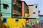 Brightly-coloured old wooden buildings at La Boca. Stock Photo - Premium Rights-Managed, Artist: AWL Images, Code: 862-05996673