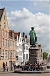 Jan van Eyckplein Square, a former large trade area during the Middle Ages. Bruges, Flanders, Belgium Stock Photo - Premium Rights-Managed, Artist: AWL Images, Code: 862-05996832