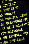 Train schedule in the area of Flanders, Belgium Stock Photo - Premium Rights-Managed, Artist: AWL Images, Code: 862-05996844