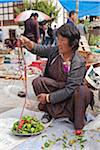 Weighing chillies at Paro weekly open-air vegetable market. Stock Photo - Premium Rights-Managed, Artist: AWL Images, Code: 862-05996907