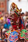 Masked dancing at Trashi Chhoe Dzong, a monastery now also housing the secretariat, the throne room and offices of the King. Stock Photo - Premium Rights-Managed, Artist: AWL Images, Code: 862-05996910