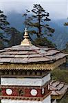 One of the 108 Druk Wangyal chortens at the 3,000-metres-high Dochu La Pass. Stock Photo - Premium Rights-Managed, Artist: AWL Images, Code: 862-05997045