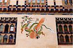 Phallus decoration on the wall of a house in Thimphu. Stock Photo - Premium Rights-Managed, Artist: AWL Images, Code: 862-05997048