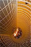 The central atrium  of the Jin Mao Tower - Grand Hyatt Hotel seen from above, Pudong, Shanghai, China. Stock Photo - Premium Rights-Managed, Artist: AWL Images, Code: 862-05997111