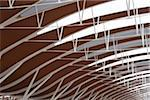 Roof beam and structure detail of Shanghai Pudong International Airport, Tangwan, Shanghai, China. Stock Photo - Premium Rights-Managed, Artist: AWL Images, Code: 862-05997112