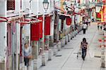 People walking along Rua da Felicidade, Macau, China Stock Photo - Premium Rights-Managed, Artist: AWL Images, Code: 862-05997237
