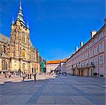 Europe, Czech Republic, Central Bohemia Region, Prague. Hradcany Castle and St. Vitus Cathedral Stock Photo - Premium Rights-Managed, Artist: AWL Images, Code: 862-05997432
