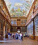 Europe, Czech Republic, Central Bohemia Region, Prague. Strahov monastery, Library. Stock Photo - Premium Rights-Managed, Artist: AWL Images, Code: 862-05997435
