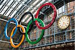 Olympic rings in St Pancras station, London, UK Stock Photo - Premium Rights-Managed, Artist: AWL Images, Code: 862-05997502