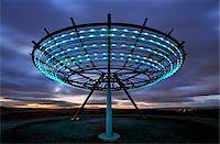 spaceship - Europe, England, Lancashire, Haslingden, Halo Stock Photo - Premium Rights-Managednull, Code: 862-05997599