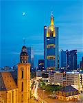 Germany, Hessen, Frankfurt Am Main, City skline with St.Katherines church Stock Photo - Premium Rights-Managed, Artist: AWL Images, Code: 862-05997778