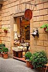 Italy, Tuscany, Siena district, Orcia Valley, shop in Pienza. Stock Photo - Premium Rights-Managed, Artist: AWL Images, Code: 862-05998072