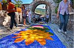 Italy, Umbria, Perugia district, Spello, infiorata. Stock Photo - Premium Rights-Managed, Artist: AWL Images, Code: 862-05998150