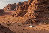 Travelling by jeep in the Wadi Rum, Jordan Stock Photo - Premium Rights-Managednull, Code: 862-05998277