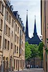 Europe; The Grand Duchy of Luxembourg, Luxembourg city, Unesco World Heritage site, Cathedrale Notre Dame, old town Stock Photo - Premium Rights-Managed, Artist: AWL Images, Code: 862-05998534