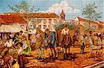 Spain, Andalusia, Seville; Mural with a traditional scene painted on tiles Stock Photo - Premium Rights-Managed, Artist: AWL Images, Code: 862-05999173