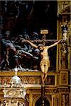 Spain, Andalusia, Seville; Christ on the cross in one of the churches in the historical centre Stock Photo - Premium Rights-Managed, Artist: AWL Images, Code: 862-05999179