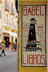 Spain, Andalusia, Seville; An advert for a book shop Stock Photo - Premium Rights-Managed, Artist: AWL Images, Code: 862-05999203