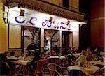 Spain, Andalusia, Seville; Outside a typical restaurant at night Stock Photo - Premium Rights-Managed, Artist: AWL Images, Code: 862-05999218