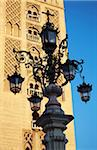 Spain, Andalusia, Seville; A highly ornamented lamp post in the historic centre Stock Photo - Premium Rights-Managed, Artist: AWL Images, Code: 862-05999227