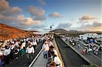 Romeria (pilgrimage) de Nuestra Senora de las Dolores (Lady of the Volcanoes). People come walking from all the island and bring food offers for the disadvantaged. Lanzarote, Canary Islands Stock Photo - Premium Rights-Managed, Artist: AWL Images, Code: 862-05999260