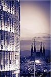 Panoramic of Barcelona, with the Agbar Tower and Sagrada Familia Church, Barcelona, Spain Stock Photo - Premium Rights-Managed, Artist: AWL Images, Code: 862-05999395