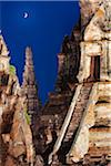 Thailand, Ayutthaya, Wat Chai Watthanaram at dusk Stock Photo - Premium Rights-Managed, Artist: AWL Images, Code: 862-05999524