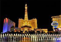 U.S.A., Nevada, Las Vegas, Ballys, Paris and Planet Hollywood and Fountains Stock Photo - Premium Rights-Managednull, Code: 862-05999681