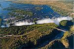 Zimbabwe, Victoria Falls. An aerial view from above the Falls. Stock Photo - Premium Rights-Managed, Artist: AWL Images, Code: 862-05999740