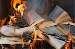 Books burning in fire Stock Photo - Premium Royalty-Free, Artist: Cultura RM, Code: 649-06000721