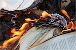 Books burning in fire Stock Photo - Premium Royalty-Free, Artist: ableimages, Code: 649-06000725