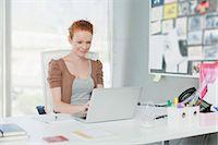 Businesswoman working on laptop Stock Photo - Premium Royalty-Freenull, Code: 649-06000901