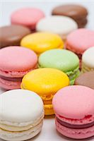 sweet   no people - Close up of colored macarons Stock Photo - Premium Royalty-Freenull, Code: 649-06001951